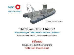 BMO RIB donation