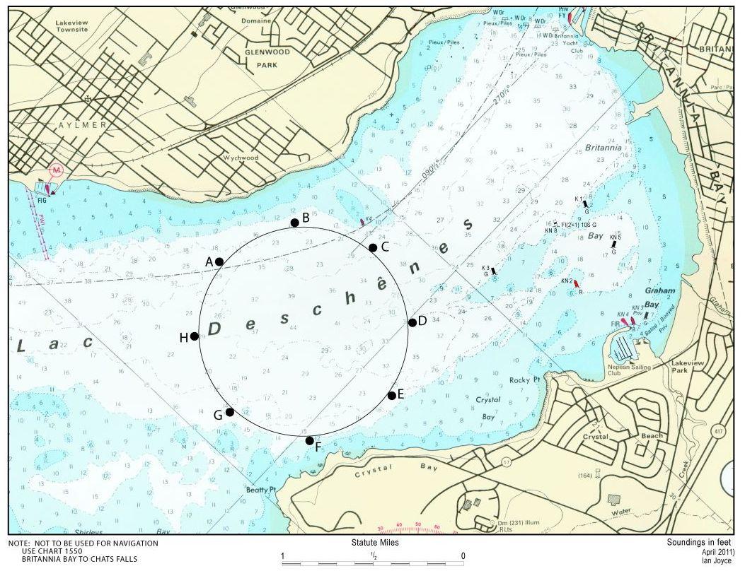 Lac Deschenes Sailing Area